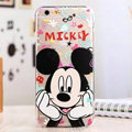 Cute Cover Disney Mickey Mouse Silicone Case Cartoon for iPhone 6S Plus 5.5 - Transparent