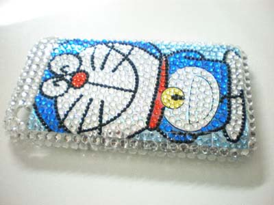 Diamond Crystal Cover Case for iPhone 3G 3GS-Doraemon