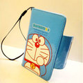 Doraemon Side Flip leather Case Holster Cover Skin for iPhone 6 Plus - Blue