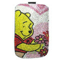Luxury Bling Holster Covers Winnie the Pooh diamond Crystal Cases for iPhone 6 Plus - Pink