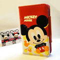 Mickey Mouse Side Flip leather Case Holster Cover Skin for iPhone 6 Plus - Red