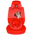 Mickey Mouse plush fabrics Car Seat Covers sets - red EB005