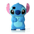 Stitch Silicone Cases Hard Skin Covers for iPhone 4G/4S - Blue