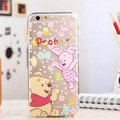 TPU Cover Disney Winnie the Pooh Silicone Case Piglet for iPhone 6 Plus 5.5 - Transparent
