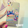 Transparent Cover Disney Stitch Silicone Cases Cute for iPhone 7 Plus 5.5 - White