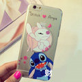 Transparent Cover Disney Stitch Silicone Shell Angie for iPhone 7 Plus 5.5 - White