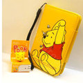 Winnie the Pooh Side Flip leather Case Holster Cover Skin for iPhone 7 Plus - Yellow