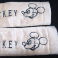 Cheap Mickey Mouse Velvet Car Seat Strap Covers Car Decoration 2pcs - White