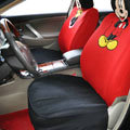 Cute Mickey Minnie Mouse Universal Auto Car Seat Covers Sandwich Fabric Full Set 10pcs - Red