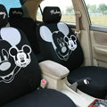 Discount Mickey Mouse Universal Auto Car Seat Covers Cotton Full Set 10pcs - Black