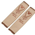 Luxury Mickey Mouse PU Leather Car Seat Strap Covers Car Decoration 2pcs - Beige