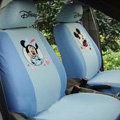 Pretty Mickey Minnie Mouse Universal Auto Car Seat Covers Cotton Full Set 10pcs - Blue