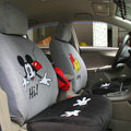 Unique Mickey Mouse Universal Auto Car Seat Covers Velvet Full Set 16pcs - Grey