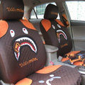 Baby Milo Paul Frank Universal Auto Car Seat Covers Cloth Full Set 10pcs - Brown