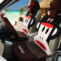 Funky Paul Frank Universal Auto Dot Car Seat Covers Ice Silk Full Set 12pcs - Brown