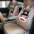 Pretty Paul Frank Universal Auto Dot Seat Cover For Car Sandwich Fabric Full Set 18pcs - Beige