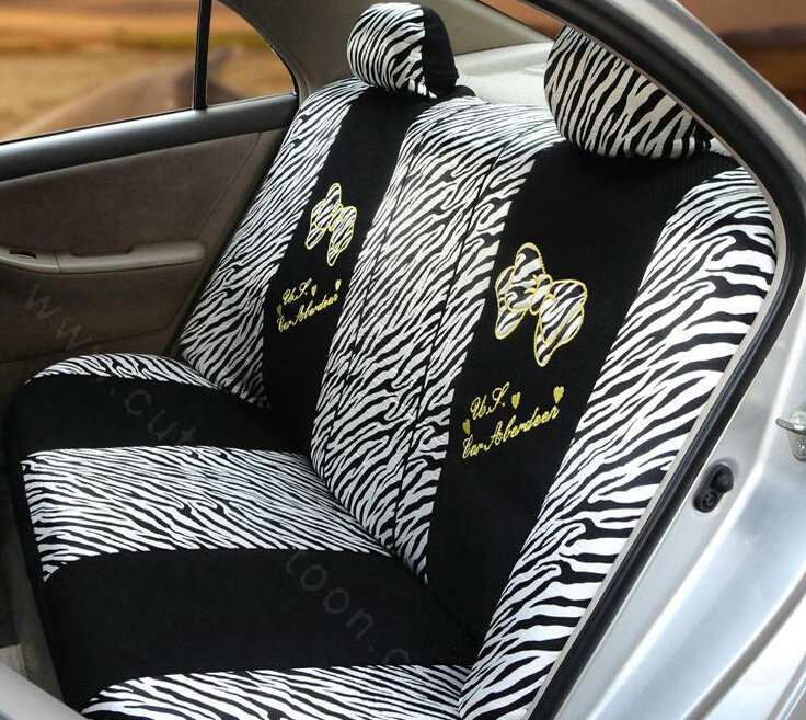 Phenomenal Buy Wholesale Zebra Print Universal Auto Car Seat Covers Ice Short Links Chair Design For Home Short Linksinfo