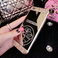 Cute Mirror Doraemon Crystal Silicone Soft Covers For iPhone 6 - Champagne