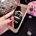 Cute Mirror Paul Frank Crystal Silicone Soft Covers For iPhone 6 - Champagne