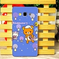 Exquisite Rilakkuma Matte Hard Back Cases For Samsung Galaxy A7 A7009 - Blue