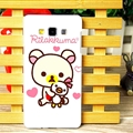 Exquisite Rilakkuma Matte Hard Back Cases For Samsung Galaxy A7 A7009 - White