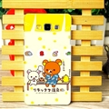 Exquisite Rilakkuma Matte Hard Back Skin For Samsung Galaxy A7 A7009 - Yellow