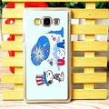 Exquisite Snoopy Matte Hard Back Cases For Samsung Galaxy A7 A7009 - Blue