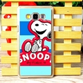 Fashion Snoopy Matte Hard Back Shell For Samsung Galaxy A7 A7009 - Blue