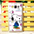 Fashion Snoopy Matte Hard Back Shell For Samsung Galaxy A7 A7009 - Rose